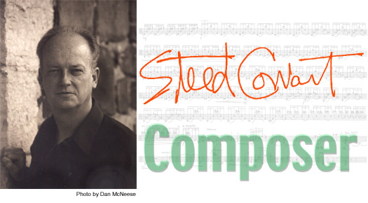 Steed Cowart, composer [photo by Dan McNeese]